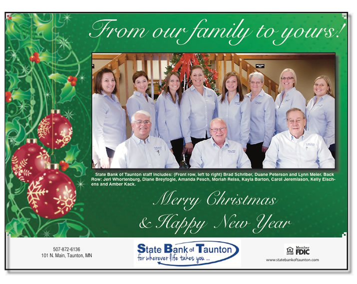 From our Family to Yours, Merry Christmas and a Happy New Year!