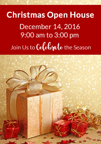 Christmas Open House on December 14, 2016 from 9 AM to 3 PM